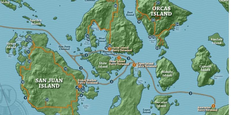 san juan islands seattle map Discover The San Juan Islands Wa Transportation Travel Tips