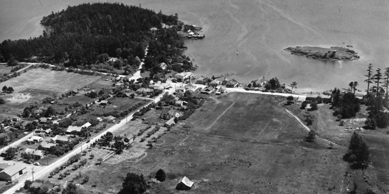 Aerial View of Eastsound - Orcas Island Historical Museum