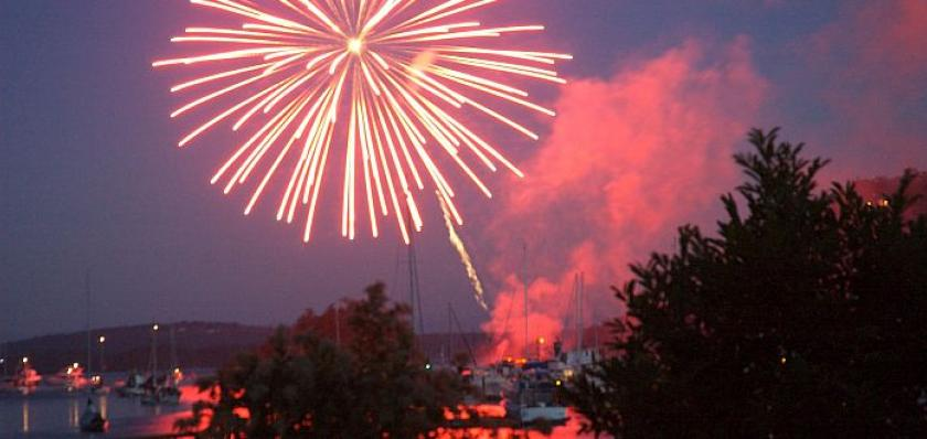 Deer Harbor Fireworks from The Place at Cayou Cove
