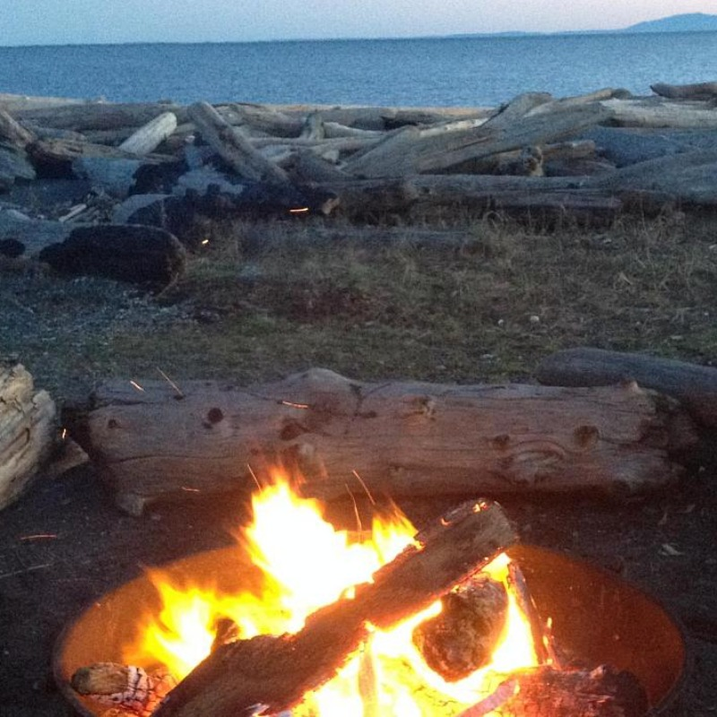 Firepit, South Beach, American Camp, San Juan Islands Historical Park