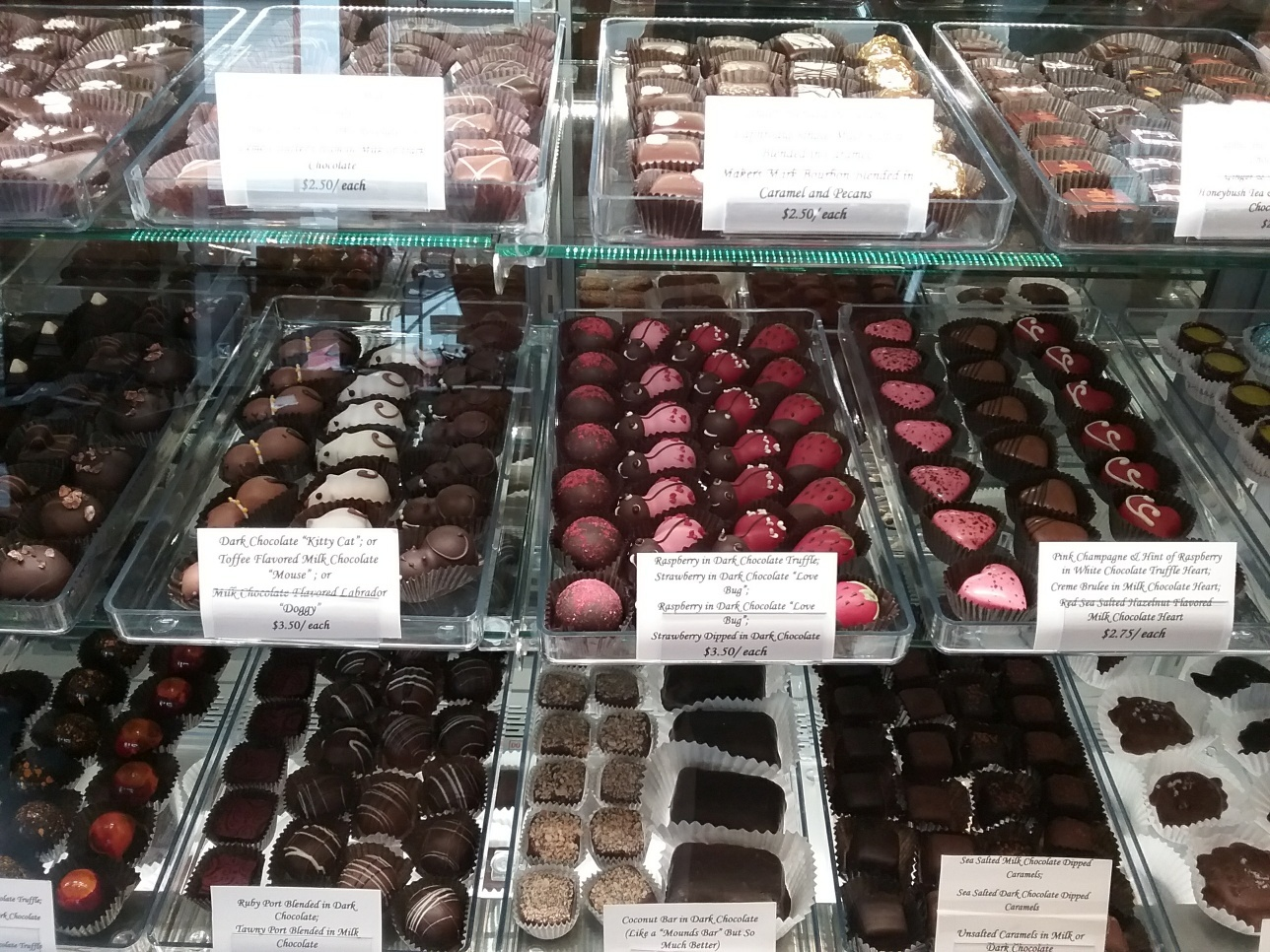Friday Harbor Chocolates - Display Case