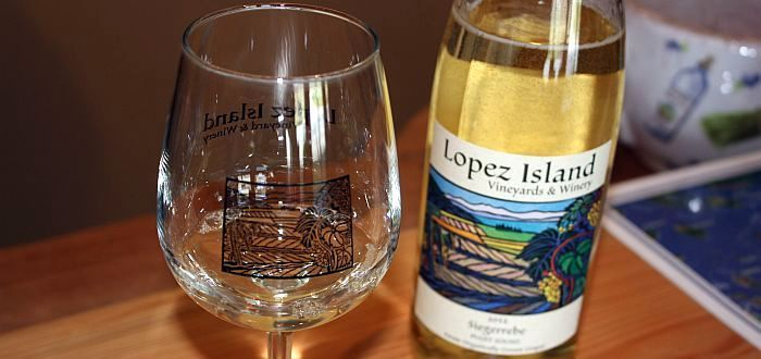 Lopez Island Vineyards & Winery - Glass & Wine