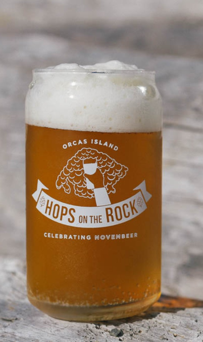 Hops on the Rock beer glass