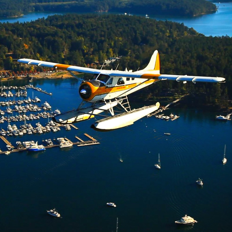 Seaplane Flight from Seattle to San Juan Island
