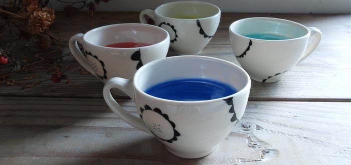 Paula West Pottery Main Sunflower Cups
