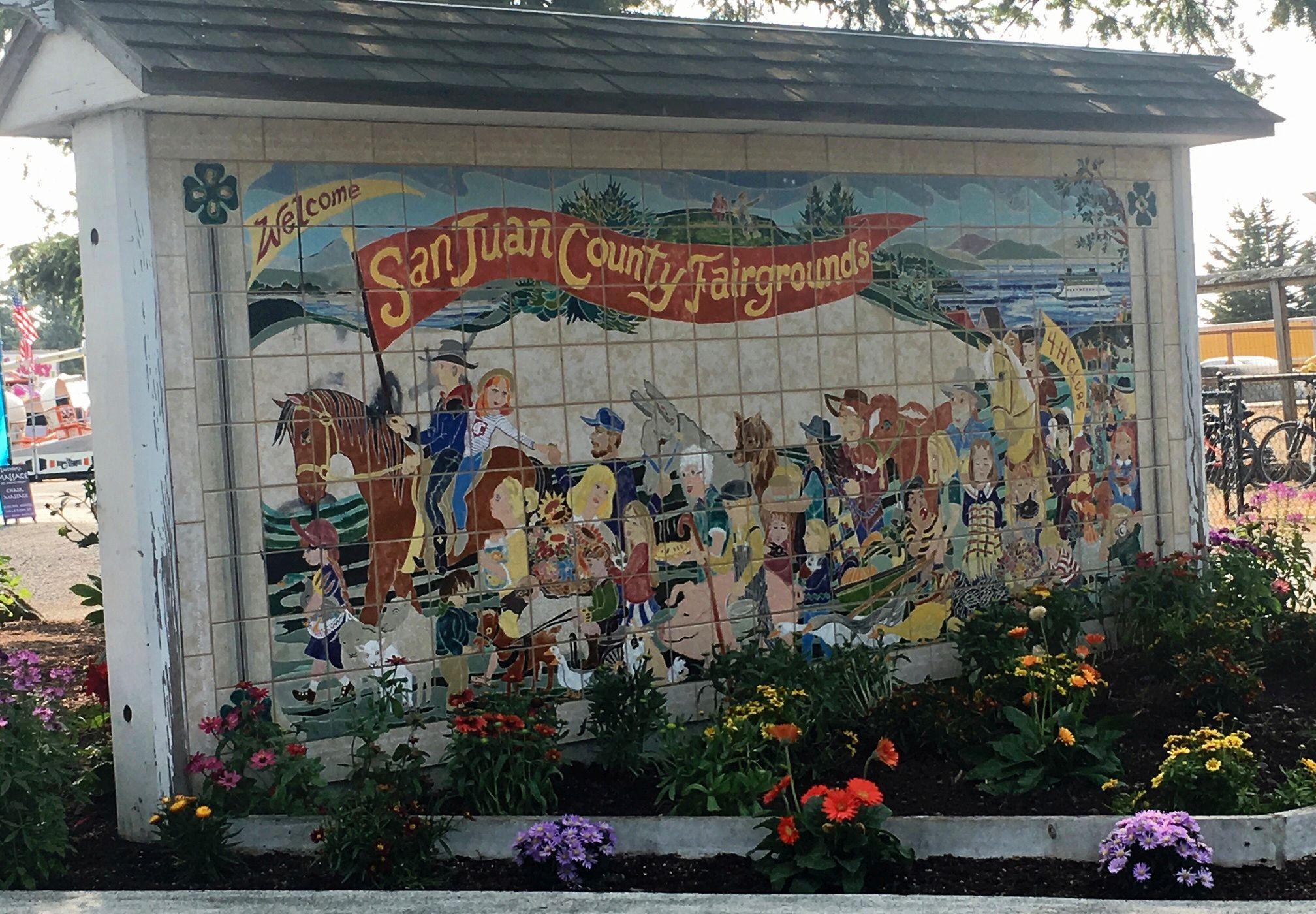 San Juan County Fair - Fair Mural Entrance