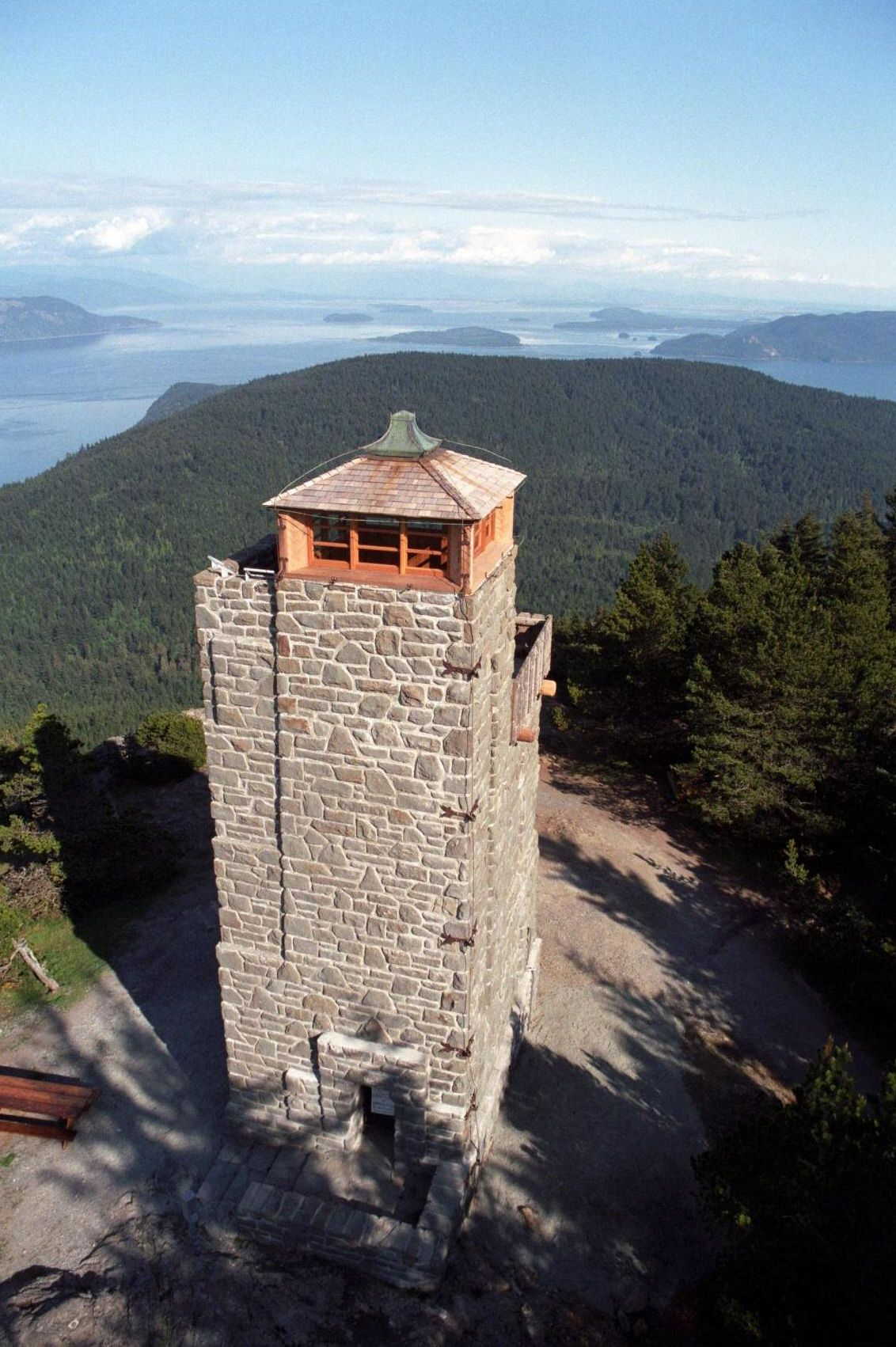 Tower on Mt. Constitution, Orcas Island, Photography by Rolf Erickson