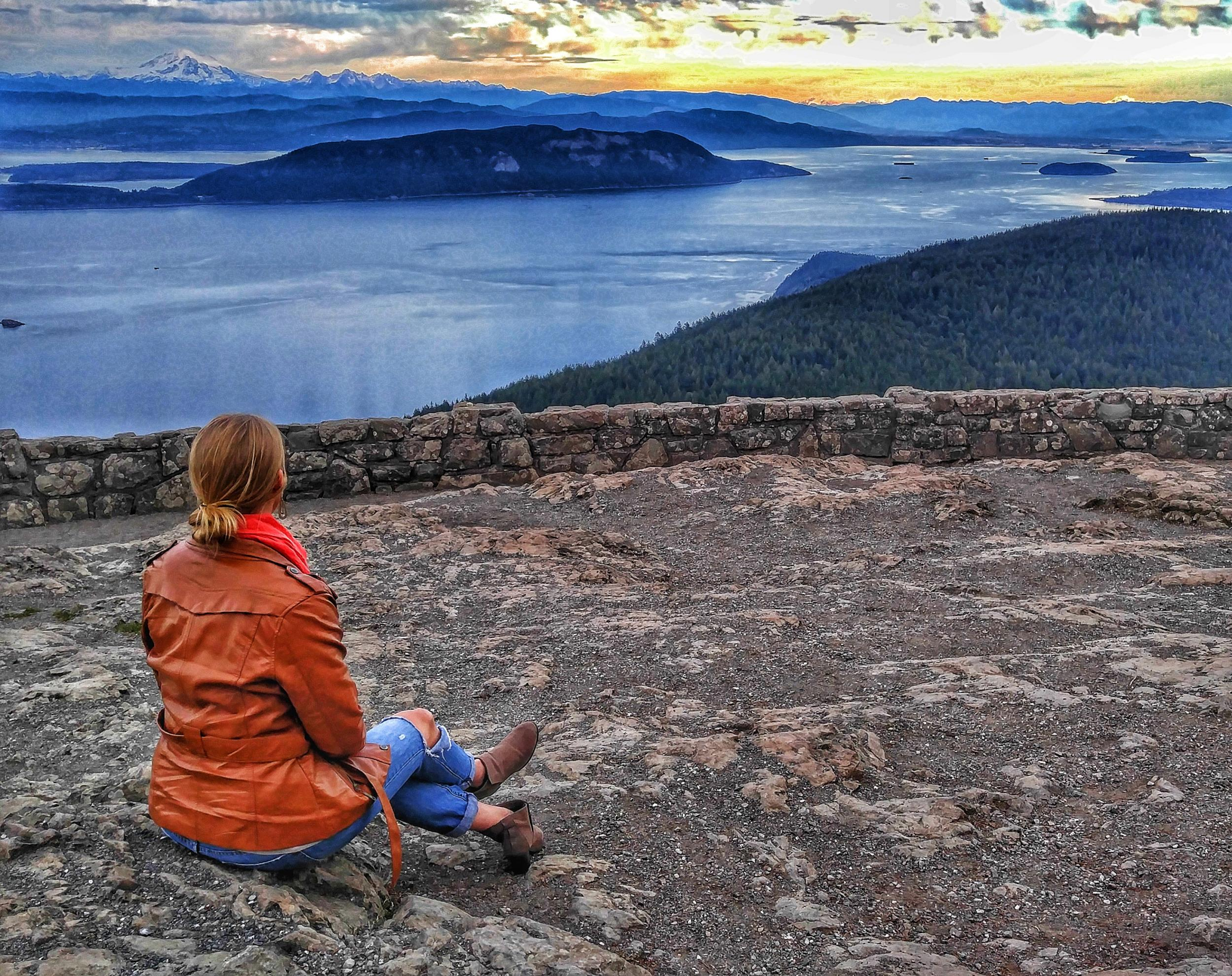 View from Mt. Constitution, Orcas Island, Photography by Lesley Haenny