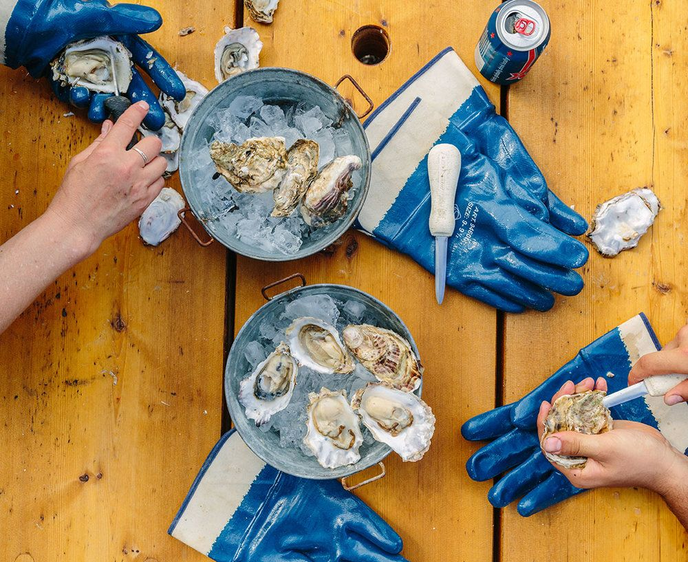 Westcott Bay Shellfish Company - Shucking